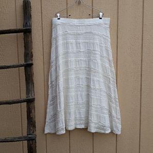 Chico's Skirt Boho Ivory Lined Lace Full Maxi 16